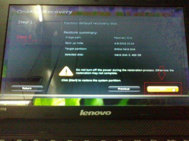 Cara Format Netbook Lenovo S110 dengan Menggunakan Recovery Discs