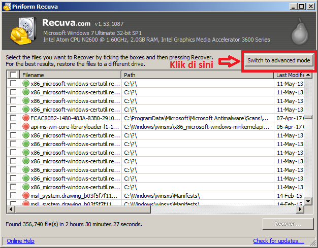 cara recovery data di flashdisk