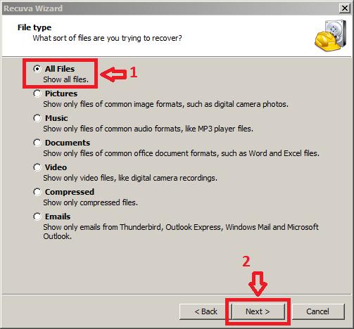 cara mengembalikan file terformat