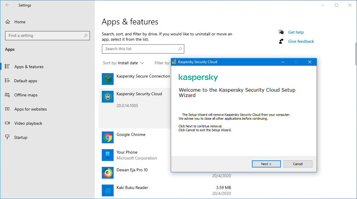 kaspersky security cloud setup wizard