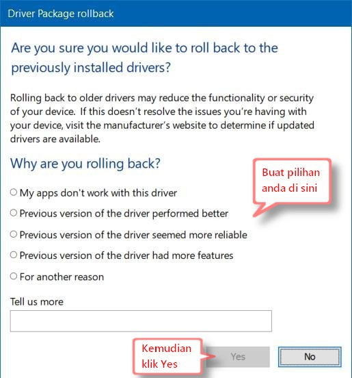 why rolling back questions windows 10